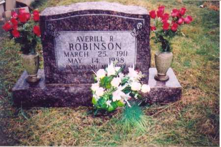 ROBINSON, AVERILL R. - Lawrence County, Ohio   AVERILL R. ROBINSON - Ohio Gravestone Photos