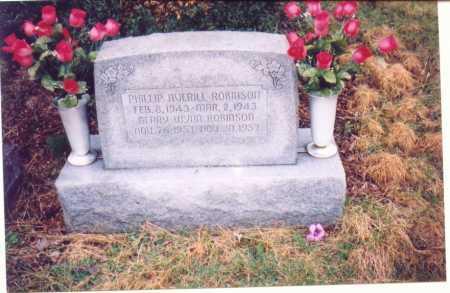 ROBINSON, PHILLIP AVERILL - Lawrence County, Ohio | PHILLIP AVERILL ROBINSON - Ohio Gravestone Photos