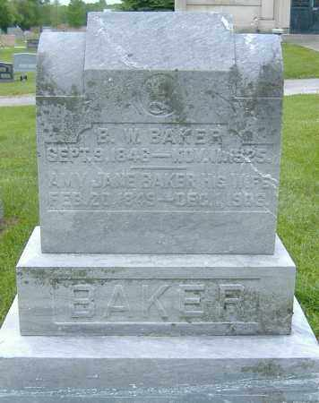 DAY BAKER, AMY JANE - Licking County, Ohio | AMY JANE DAY BAKER - Ohio Gravestone Photos