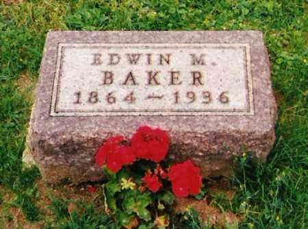 BAKER, EDWIN M. - Licking County, Ohio | EDWIN M. BAKER - Ohio Gravestone Photos