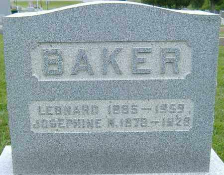 BAKER, LEONARD - Licking County, Ohio | LEONARD BAKER - Ohio Gravestone Photos