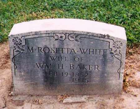 WHITE BAKER, MARY ROSETTA - Licking County, Ohio | MARY ROSETTA WHITE BAKER - Ohio Gravestone Photos