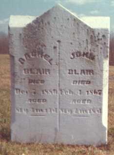 BLAIR, RACHEL - Licking County, Ohio | RACHEL BLAIR - Ohio Gravestone Photos