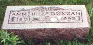 FRANCIS DUNCAN, ANN HILL - Licking County, Ohio   ANN HILL FRANCIS DUNCAN - Ohio Gravestone Photos