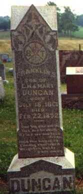 DUNCAN, FRANKLIN S. - Licking County, Ohio   FRANKLIN S. DUNCAN - Ohio Gravestone Photos