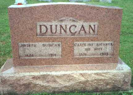 DUNCAN, CAROLINE - Licking County, Ohio | CAROLINE DUNCAN - Ohio Gravestone Photos
