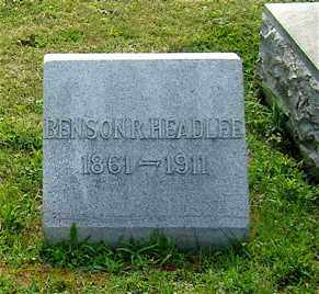 HEADLEE, BENSON R. - Licking County, Ohio   BENSON R. HEADLEE - Ohio Gravestone Photos