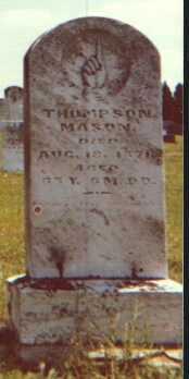 MASON, THOMPSON - Licking County, Ohio   THOMPSON MASON - Ohio Gravestone Photos
