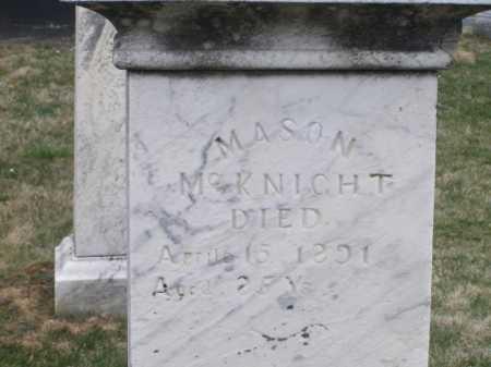 MCKNIGHT, MASON - Licking County, Ohio | MASON MCKNIGHT - Ohio Gravestone Photos