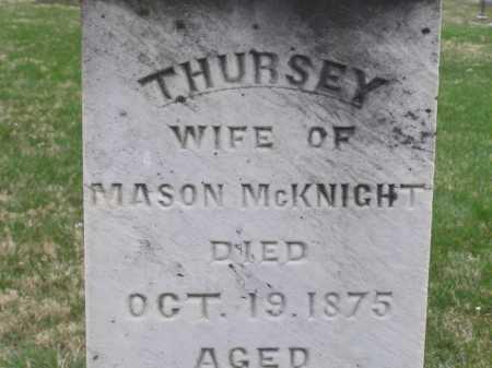 ROMINE MCKNIGHT, THURSEY (THURZA) - Licking County, Ohio   THURSEY (THURZA) ROMINE MCKNIGHT - Ohio Gravestone Photos