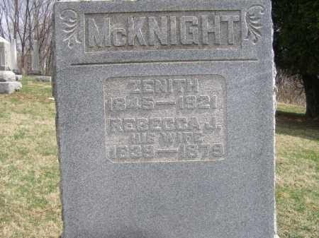 MCKNIGHT, ZENITH - Licking County, Ohio | ZENITH MCKNIGHT - Ohio Gravestone Photos