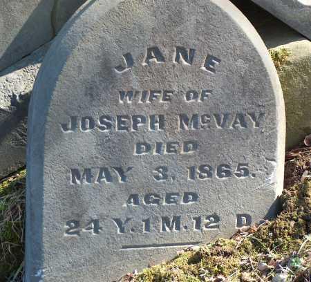 MCVAY, JANE - Licking County, Ohio   JANE MCVAY - Ohio Gravestone Photos