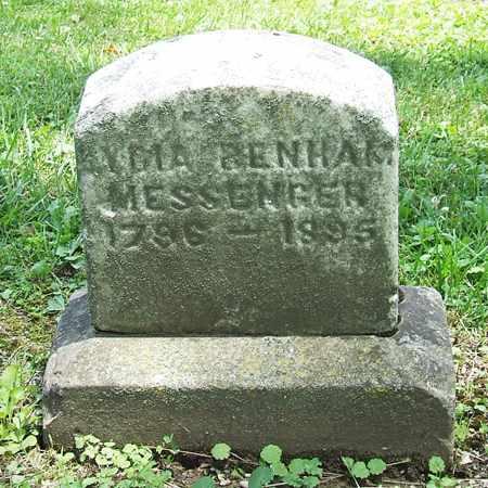 BENHAM MESSENGER, LYDIA - Licking County, Ohio | LYDIA BENHAM MESSENGER - Ohio Gravestone Photos