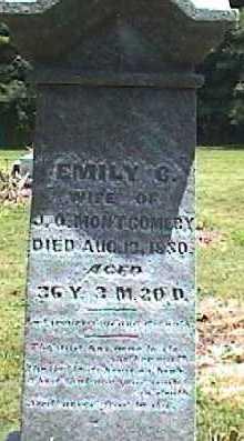 VANFOSSEN MONTGOMERY, EMILY - Licking County, Ohio   EMILY VANFOSSEN MONTGOMERY - Ohio Gravestone Photos