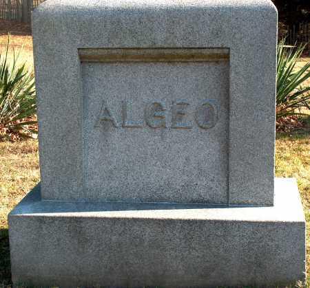 MONUMENT, ALGEO - Licking County, Ohio | ALGEO MONUMENT - Ohio Gravestone Photos