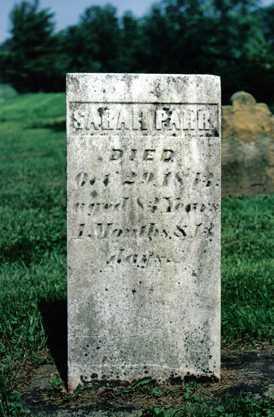 PARR, SARAH - Licking County, Ohio | SARAH PARR - Ohio Gravestone Photos