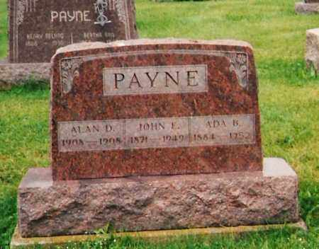 PAYNE, JOHN EDWIN - Licking County, Ohio | JOHN EDWIN PAYNE - Ohio Gravestone Photos