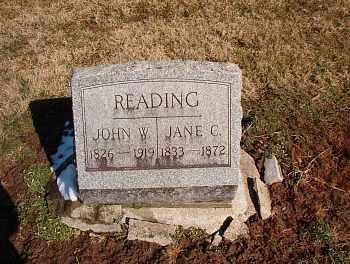 READING, JANE CHARLOTTE - Licking County, Ohio | JANE CHARLOTTE READING - Ohio Gravestone Photos