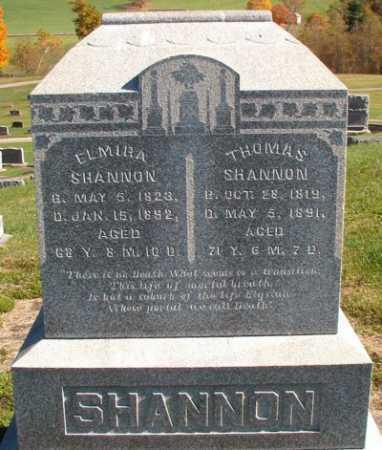 SHANNON, ELMIRA - Licking County, Ohio | ELMIRA SHANNON - Ohio Gravestone Photos