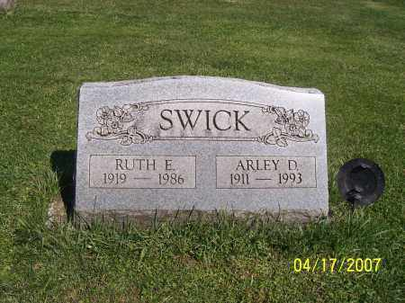 SWICK, RUTH E - Licking County, Ohio | RUTH E SWICK - Ohio Gravestone Photos
