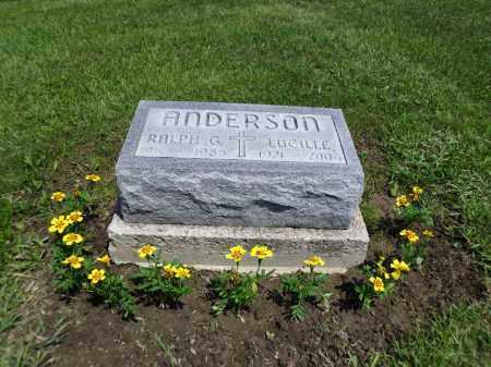 ANDERSON, RALPH GILBERT - Logan County, Ohio | RALPH GILBERT ANDERSON - Ohio Gravestone Photos