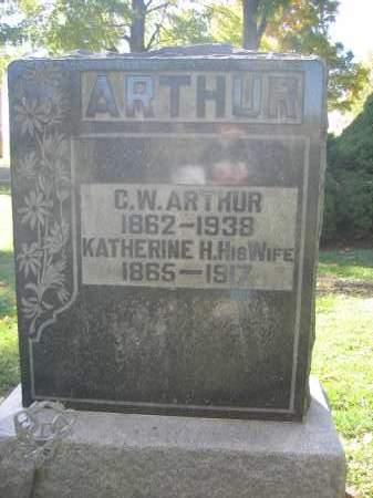 ARTHUR, KATHERINE H. - Logan County, Ohio | KATHERINE H. ARTHUR - Ohio Gravestone Photos