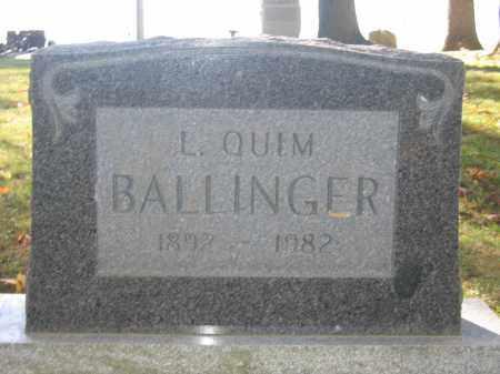 BALLINGER, L. QUIM - Logan County, Ohio | L. QUIM BALLINGER - Ohio Gravestone Photos