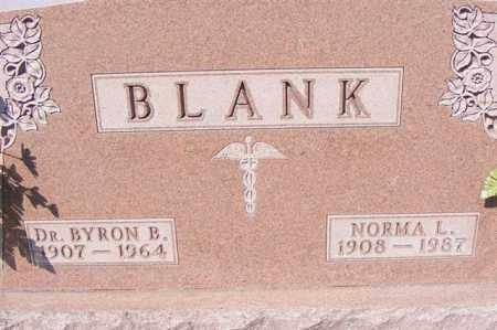 BLANK, DR. BYRON B. - Logan County, Ohio | DR. BYRON B. BLANK - Ohio Gravestone Photos