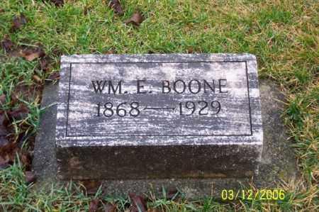 BOONE, WILLIAM E - Logan County, Ohio | WILLIAM E BOONE - Ohio Gravestone Photos