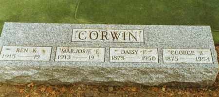 CORWIN, BENJAMIN KING - Logan County, Ohio | BENJAMIN KING CORWIN - Ohio Gravestone Photos