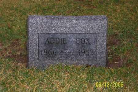 COX, ADDIE - Logan County, Ohio | ADDIE COX - Ohio Gravestone Photos