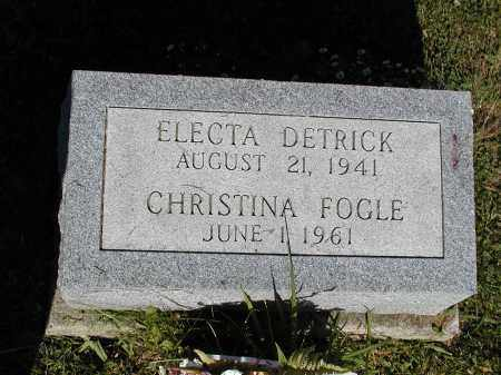 FOGLE, CHRISTINA - Logan County, Ohio | CHRISTINA FOGLE - Ohio Gravestone Photos