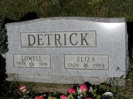 DETRICK, ELIZA INGRAM - Logan County, Ohio   ELIZA INGRAM DETRICK - Ohio Gravestone Photos