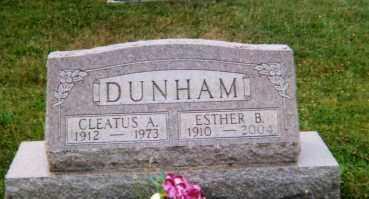 DUNHAM, CLEATUS A. - Logan County, Ohio | CLEATUS A. DUNHAM - Ohio Gravestone Photos