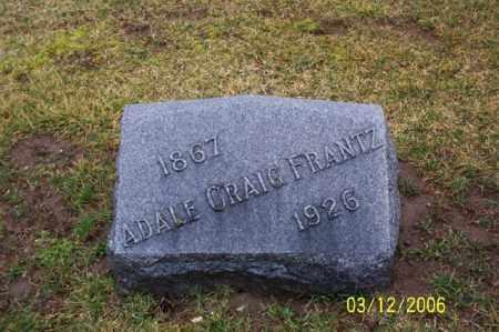 FRANTZ, ADALE GRAIG - Logan County, Ohio | ADALE GRAIG FRANTZ - Ohio Gravestone Photos