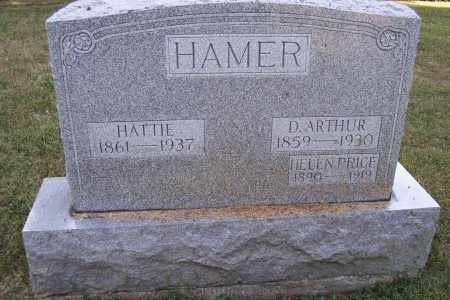 HAMER, HATTIE - Logan County, Ohio | HATTIE HAMER - Ohio Gravestone Photos