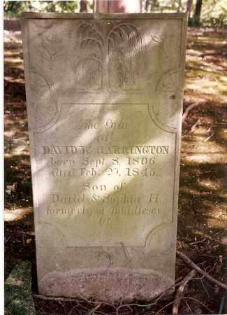 HARRINGTON, DAVID W. - Logan County, Ohio | DAVID W. HARRINGTON - Ohio Gravestone Photos