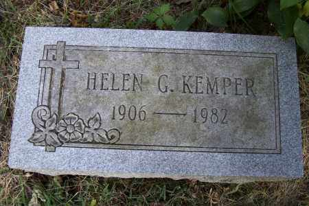 KEMPER KEMPER, HELEN G. - Logan County, Ohio | HELEN G. KEMPER KEMPER - Ohio Gravestone Photos