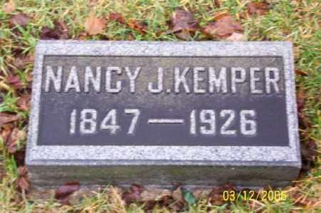 KEMPER, NANCY  J - Logan County, Ohio | NANCY  J KEMPER - Ohio Gravestone Photos