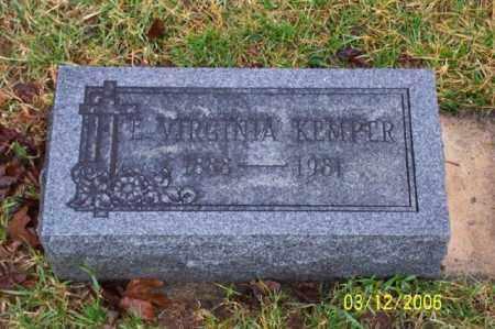 KEMPER, VIRGINIA - Logan County, Ohio   VIRGINIA KEMPER - Ohio Gravestone Photos