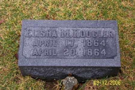 KOOGLER, ELISHA M - Logan County, Ohio | ELISHA M KOOGLER - Ohio Gravestone Photos