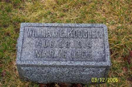 KOOGLER, WILLIAM E - Logan County, Ohio | WILLIAM E KOOGLER - Ohio Gravestone Photos