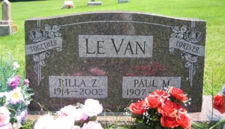 LEVAN, RILLA ZEPPORAH RONEY - Logan County, Ohio | RILLA ZEPPORAH RONEY LEVAN - Ohio Gravestone Photos