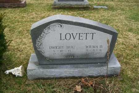 LOVETT, DWIGHT HUG - Logan County, Ohio   DWIGHT HUG LOVETT - Ohio Gravestone Photos