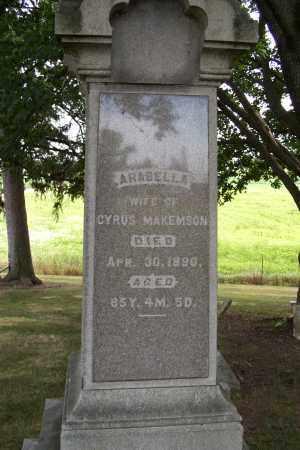 MAKEMSON, ARABELLA - Logan County, Ohio | ARABELLA MAKEMSON - Ohio Gravestone Photos