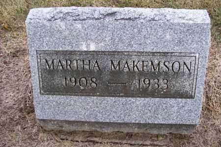MAKEMSON, MARTHA - Logan County, Ohio | MARTHA MAKEMSON - Ohio Gravestone Photos