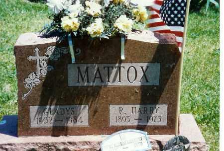 MATTOX, GLADYS E. - Logan County, Ohio | GLADYS E. MATTOX - Ohio Gravestone Photos