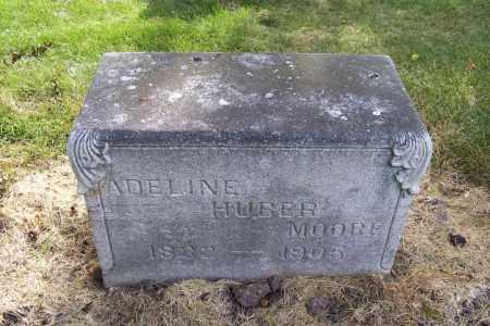 HUBER MOORE, ADALINE - Logan County, Ohio | ADALINE HUBER MOORE - Ohio Gravestone Photos