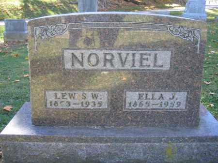 NORVIEL, ELLA J. - Logan County, Ohio | ELLA J. NORVIEL - Ohio Gravestone Photos