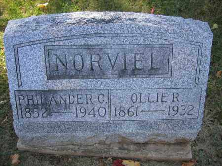 NORVIEL, PHILANDER C. - Logan County, Ohio | PHILANDER C. NORVIEL - Ohio Gravestone Photos